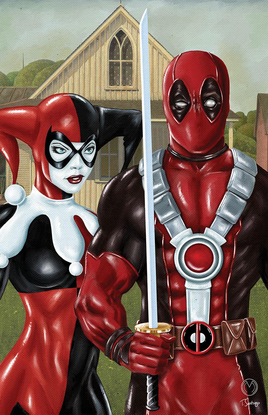 MARAT MYCHAELS- Deadpool Harley Quinn Gothic