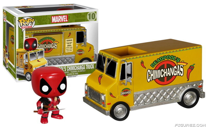 Funko Pop Rides Marvel Deadpool 10 Deadpool's Chimichanga Truck