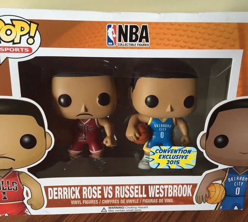 Funko Pop Sports NBA Derrick Rose Vs. Russell Westbrook Convention 01