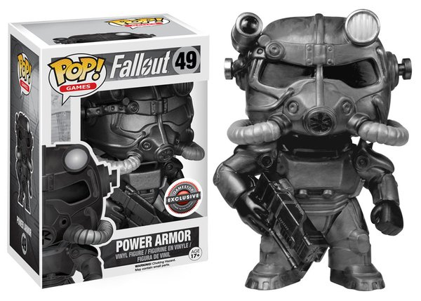 POWER ARMOR FALLOUT VIDEO GAME FUNKO POP EXCLUSIVE GAMESTOP 49
