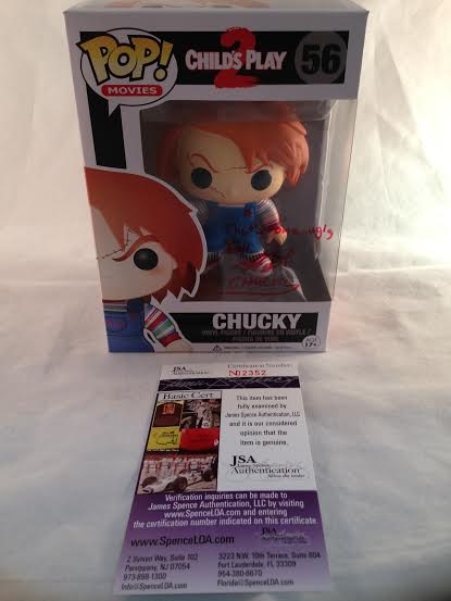 "Chucky Childs Play 2 Brad Dourif Autographed ""That's One Ugly Doll"" CHUCKY Funko Pop"