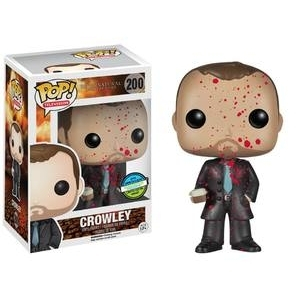 super natural funko pop crowley king of hell tv show exclusive
