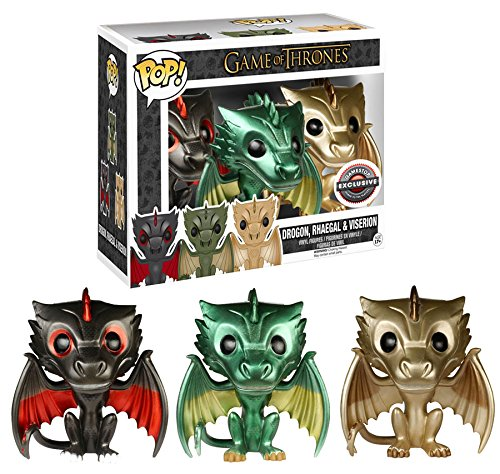 Game of Thrones Gamestop Exclusive Metallic Dragon 3 Pack