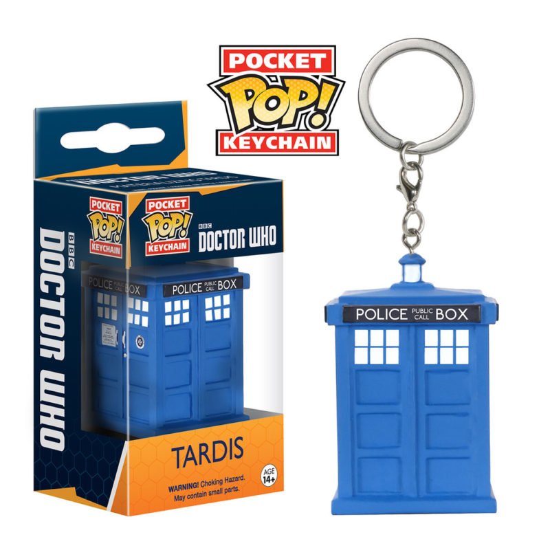 TARDIS DR. WHO FUNKO POCKET POP KEYCHAIN