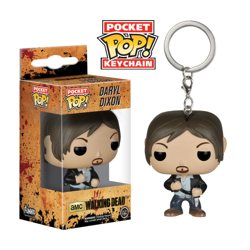 DARYL DIXON FUNKO POCKET POP KEYCHAIN