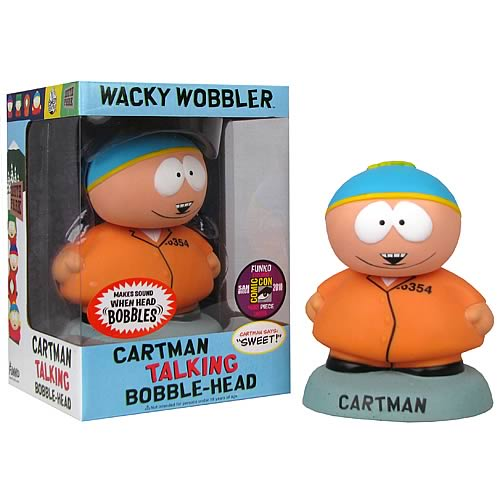 CARTMAN SOUTH PARK COMIC CON TALKING BOBBLE HEAD