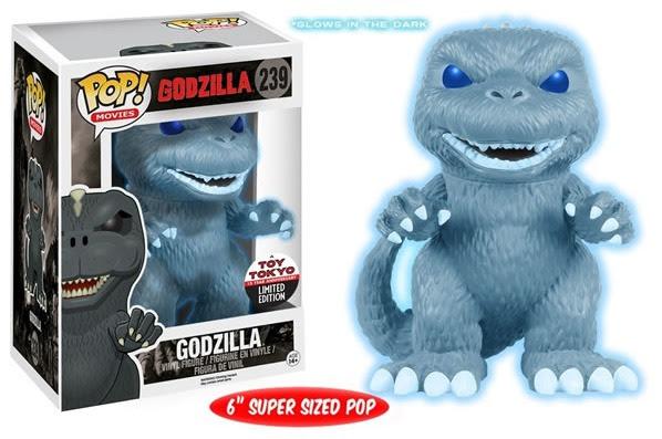 Godzilla NYCC Toy Tokyo Exclusives GITD Funko Pop