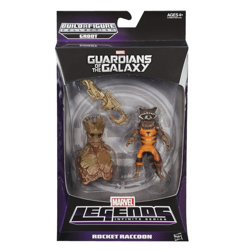 Marvel Legends Infinite Series Guardians of the Galaxy Rocket Raccoon Baf Groot