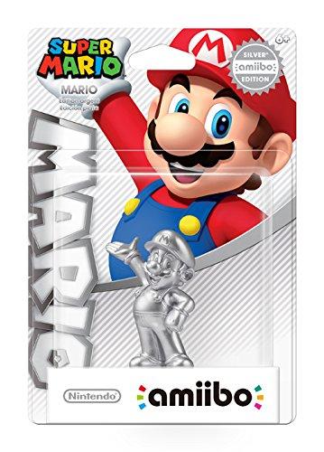 Nintendo Amiibo Super Mario Silver Edition Mario