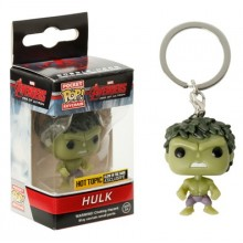 HULK HOT TOPIC FUNKO POCKET POP KEYCHAIN GLOWS IN DARK