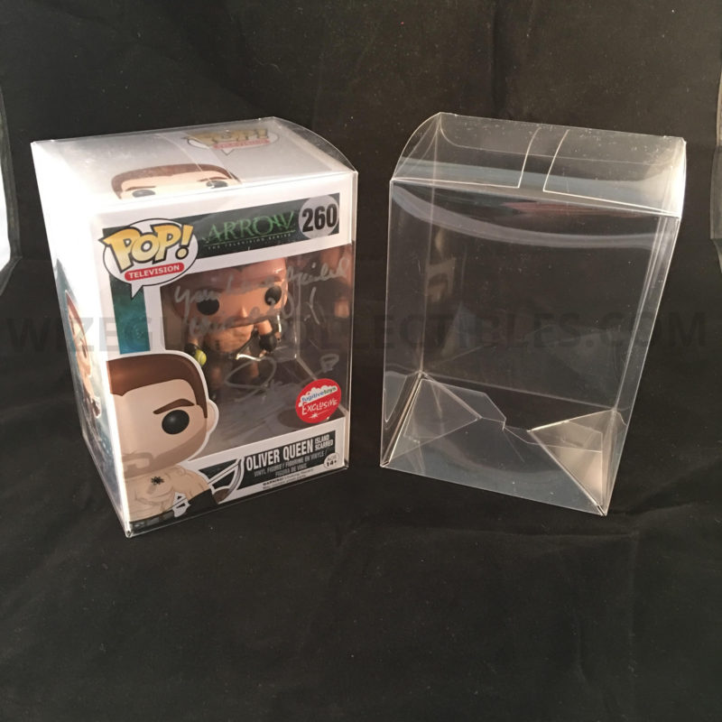 funko pop exclusive pop protector case tv show signed oliver queen stephen amell
