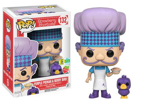 FUNKO POP PURPLE PIEMAN BERRY BIRD SDCC 2016 EXCLUSIVE SCENTED STRAWBERRY SHORTCAKE