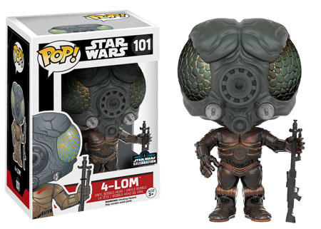 4 LOM GALACTIC CONVENTION EXCLUSIVE STAR WARS FUNKO POP