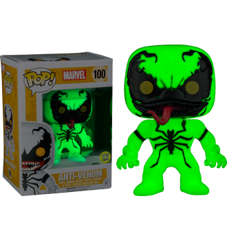 ANTI VENOM GLOW IN THE DARK BOX LUNCH FUNKO POP