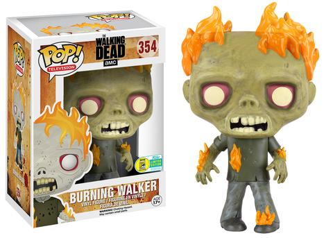 BURNING WALKER WALKING DEAD SDCC EXCLUSIVE AMC FUNKO POP DARYL RICK VINYL TWD