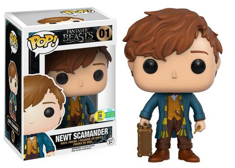 NEWT SCAMANDER HARRY POTERR FANTASTIC BEASTS AND WHERE TO FIND THEM JK ROWLING FUNKO POP VINYL SDCC 2016 EXCLUSIVE