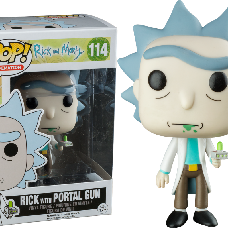 RICK WITH PORTAL GUN HOT TOPIC EXCLUSIVE RICK AND MORTY ANIMATION FUNKO POP VINYL