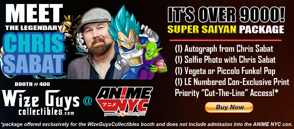 Chris Sabat IT'S OVER 9000! Exclusive Package from Wize Guys Collectibles!